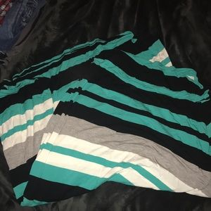 Merona striped maxi skirt size XL